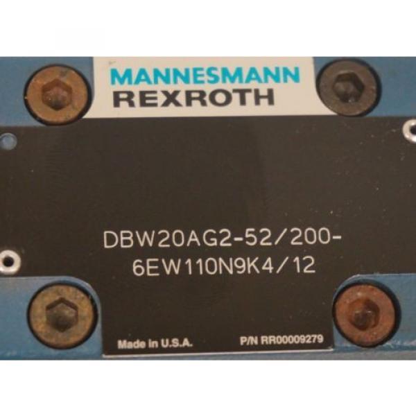Origin MANNESMAN REXROTH DBW20AG2-52/200-6EW110N9K4/12 CONTROL VALVE #4 image