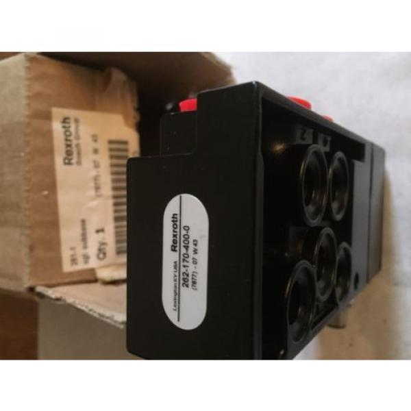 Origin REXROTH 262-170-400-0 PNEUMATIC VALVE 261-170 SGL BASE,BOX1 #3 image