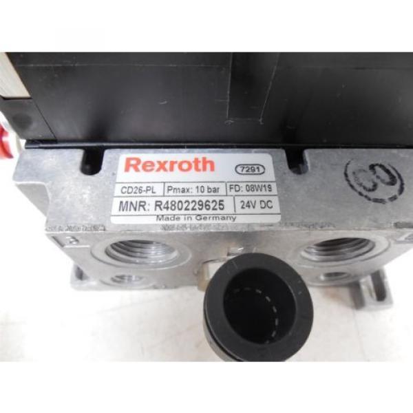 USED Rexroth R480229625 CD26-PL Pneumatic Valve Bank Module 5763510 #5 image