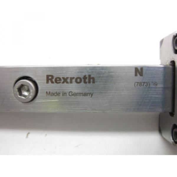 BOSCH REXROTH LINEAR RUNNER BLOCK R162289420 w/ REXROTH GUIDE RAIL, LENGTH 654mm #8 image