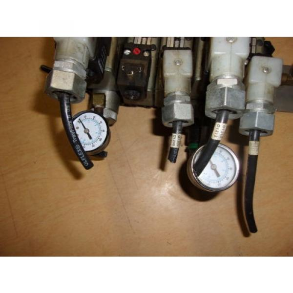 Rexroth Ceramic Lot of 5 Pneumatic Valves w/ Gauges GT-10061-2440 FREE SHIPPING #3 image