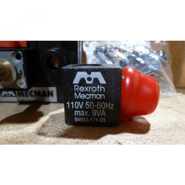 Rexroth Mecman 581-442-131-2, Solenoid Valve, 110VAC origin old stock #3 image