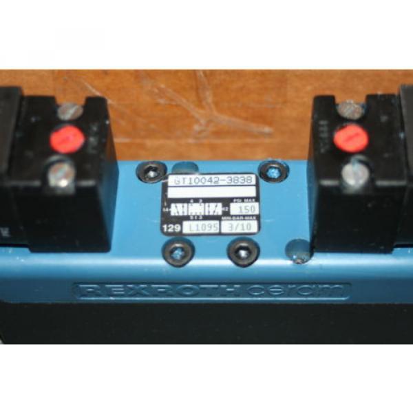 Rexroth Bosch Group Ceram Pneumatic Valve GT10042-3838, 150 PSI 110 VAC Origin #2 image