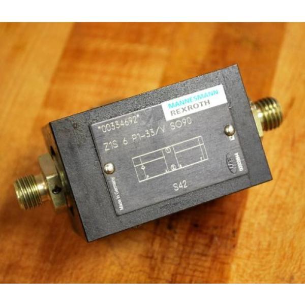 Rexroth Z1S6P1-33/VSO90 Hydraulic Check Valve - Z1S6P133/VSO90 #1 image