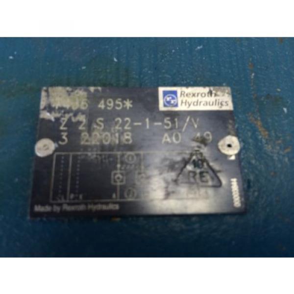 USED REXROTH Z2S 22-1-51/V 3 22018 A0 49 HYDRAULIC VALVE 495  GB #2 image
