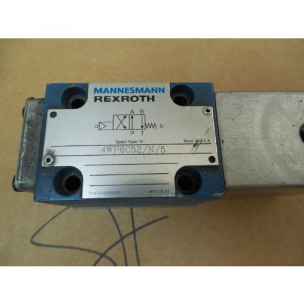 Mannesmann Rexroth Solenoid Valve 4WP6C52/N/5 4WP6C52N5 RR00885051 Used #2 image
