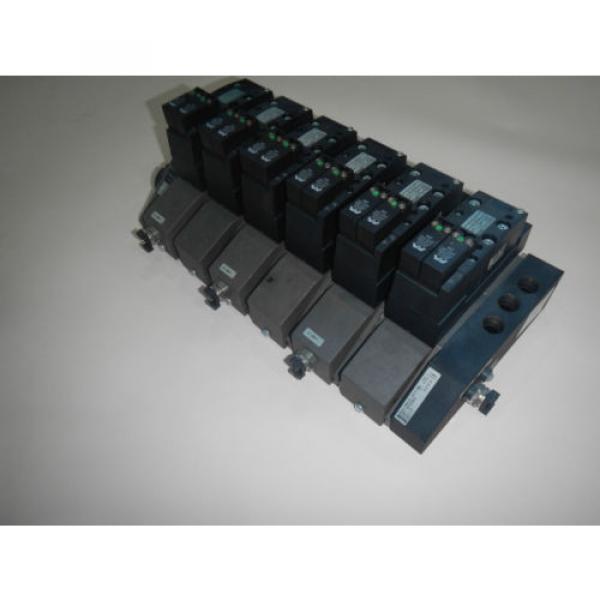 Rexroth 261-108-120-0 6 Valve Unit Pneumatic Valve #1 image