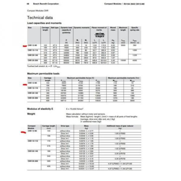 BOSCH REXROTH CKR 12-90  R036430000 COMPACT MODULE CKR LINEAR ACTUATOR #7 image