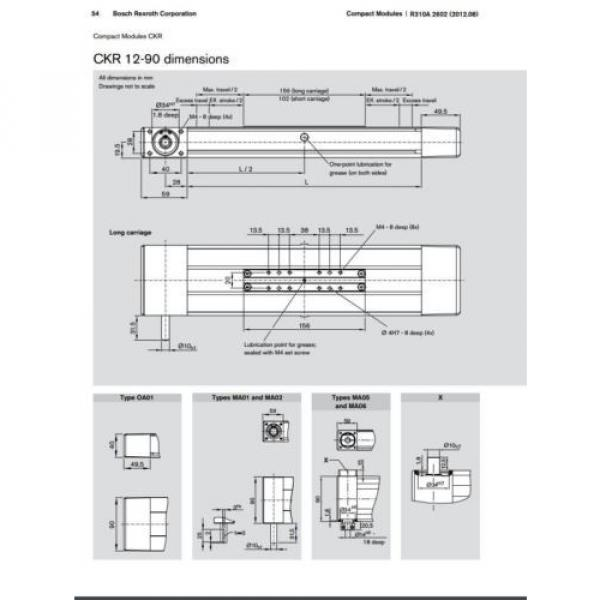 BOSCH REXROTH CKR 12-90  R036430000 COMPACT MODULE CKR LINEAR ACTUATOR #8 image