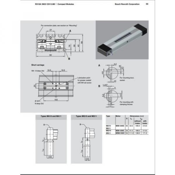 BOSCH REXROTH CKR 12-90  R036430000 COMPACT MODULE CKR LINEAR ACTUATOR #9 image