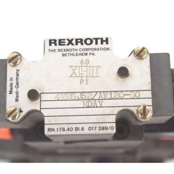 REXROTH 4WEH16J60/6AW120-60NETS2 VALVE W/ Z2FS-6-2-41-10V amp; 4WE6J52/AW120-60 #3 image