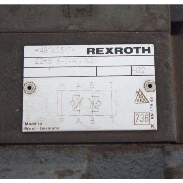 REXROTH 4WEH16J60/6AW120-60NETS2 VALVE W/ Z2FS-6-2-41-10V amp; 4WE6J52/AW120-60 #4 image