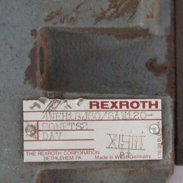 REXROTH 4WEH16J60/6AW120-60NETS2 VALVE W/ Z2FS-6-2-41-10V amp; 4WE6J52/AW120-60 #5 image