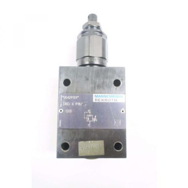 REXROTH DBD-6-P18 HYDRAULIC PRESSURE RELIEF VALVE D550097 #1 image