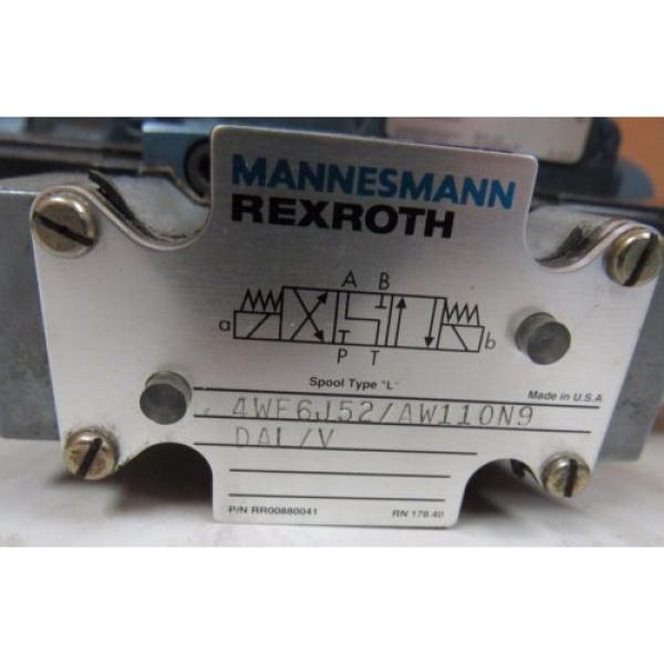 MANNESMANN REXROTH DIRECTIONAL CONTROL VALVE 4WE6J52/AW110N9 #4 image