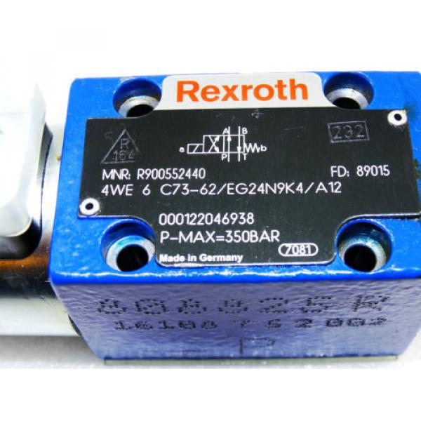 Rexroth Hydraulic Valve R900552440  /  4WE 6 C73-62/EG24N9K4/A12   /  Invoice #2 image