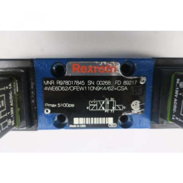 REXROTH 4WE6D62/OFEW110N9K4/62 120V-AC SOLENOID HYDRAULIC VALVE D550096 #6 image