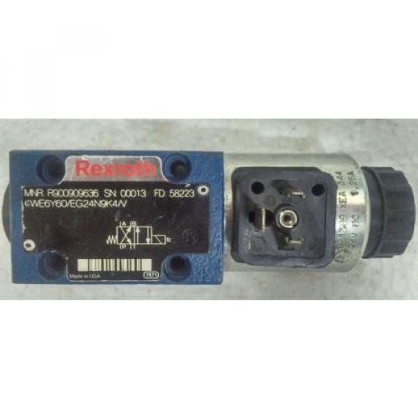 4WE6Y60/EG24N9K4/V REXROTH R900909636 DIRECTIONAL CONTROL VALVE #1 image