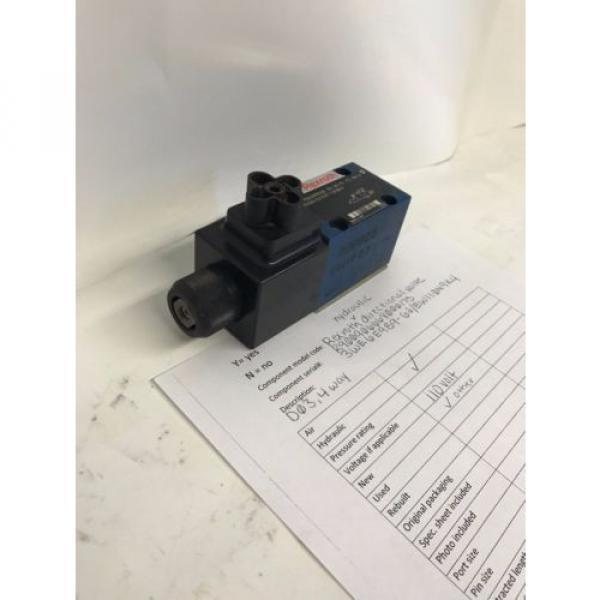 Rexroth hydraulic directional valve 3WE6E9B9- 62/ EW110N9K4 #3 image