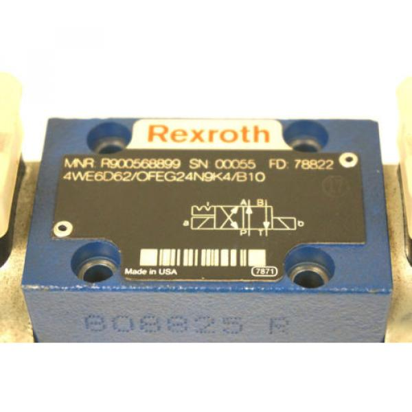 Origin REXROTH R900568899 DIRECTIONAL VALVE 4WE6D62/OFEG24N9K4/B10 #4 image