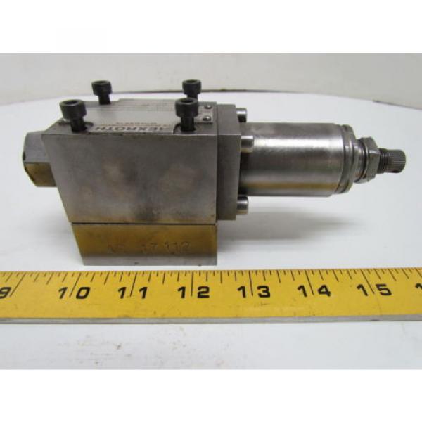 Rexroth DR6DP2-41/75Y Flow Control Valve Hydraulic W/AG 17112 Manifold #1 image