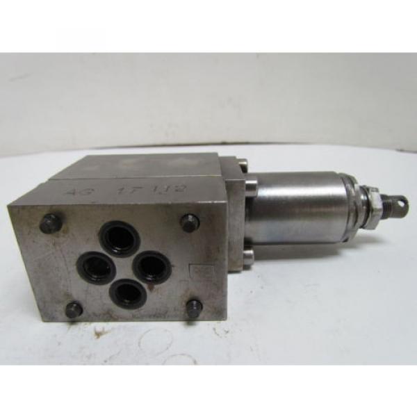 Rexroth DR6DP2-41/75Y Flow Control Valve Hydraulic W/AG 17112 Manifold #5 image