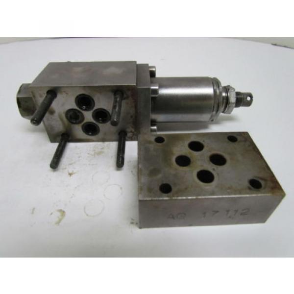 Rexroth DR6DP2-41/75Y Flow Control Valve Hydraulic W/AG 17112 Manifold #6 image