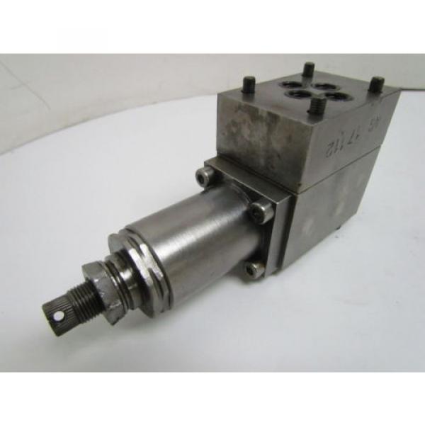 Rexroth DR6DP2-41/75Y Flow Control Valve Hydraulic W/AG 17112 Manifold #7 image