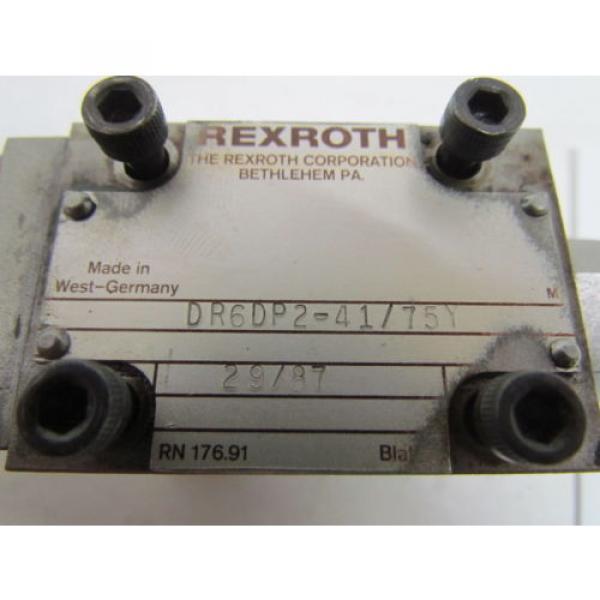 Rexroth DR6DP2-41/75Y Flow Control Valve Hydraulic W/AG 17112 Manifold #9 image