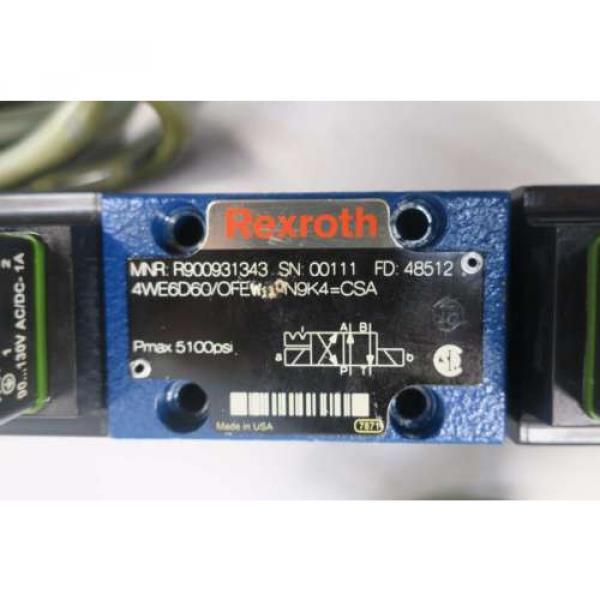 REXROTH 4WE6D60/OFEW110N9K4 120V-AC SOLENOID HYDRAULIC VALVE D549958 #5 image