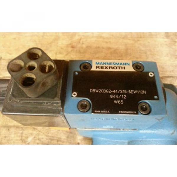 Mannesmann Rexroth DBW20BG2-44/315-6EW110N-9K4/12-W65 Hydraulic Control Valve #2 image