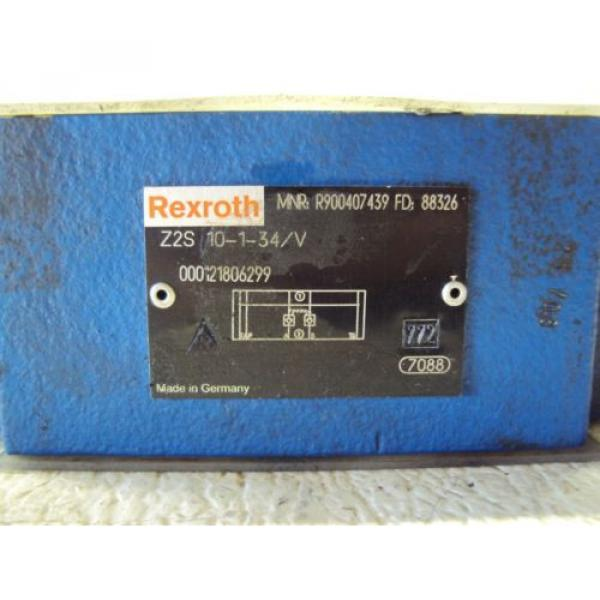REXROTH Z2S 10-1-34/V VALVE, 000121806299 USED #2 image