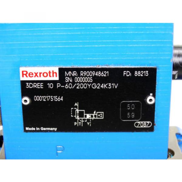 Rexroth Bosch valve ventil 3DREE 10 P-60/200YG24K31V / R900948621    Invoice #2 image