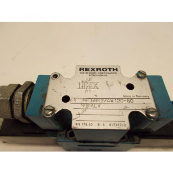 Rexroth 4WE6G52/AW120-60 Hydraulic Directional Valve D03 115V #2 image