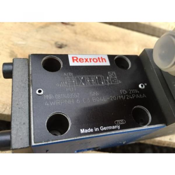 Rexroth 0811403552 Directional Control Valve 4WRPNH6C3B04L-20/M/24PA6A #5 image