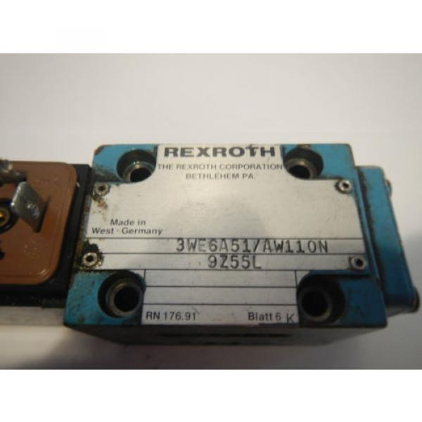 Rexroth 3WE6A51/AW110N Hydraulic Directional Valve #2 image