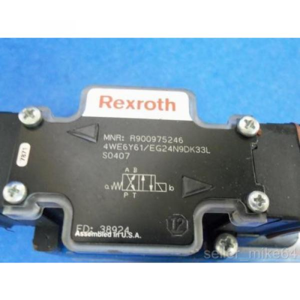 REXROTH 4WE6Y61/EG24N9DK33L 24 VDC 8 WATTS DIRECTIONAL CONTROL VALVE, NNB #2 image