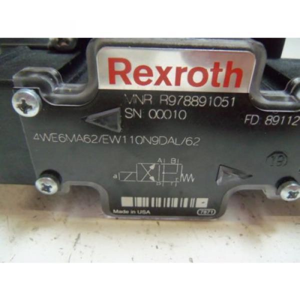 REXROTH 4WE6MA62/EW110N9DAL/62 HYDRAULIC VALVE Origin NO BOX #5 image