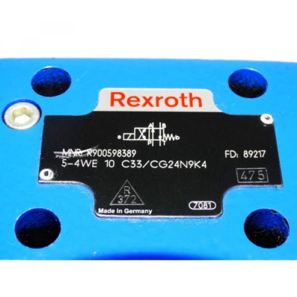 Rexroth Bosch valve ventil 5-4WE 10 C33/CG24N9K4   /  R900598389     Invoice #2 image