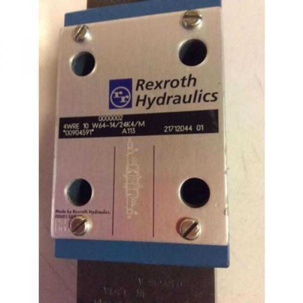 Rexroth Hydraulic 4WRE10W64-14/24K4/M Proportional Valve #2 image