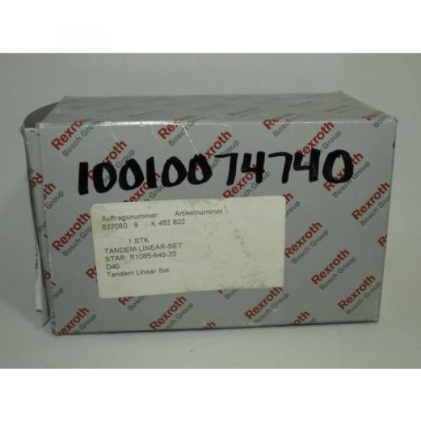 origin BOSCH REXROTH Linear Ball Bearing Unit Tandem Closed Design R1085 640 20 #6 image