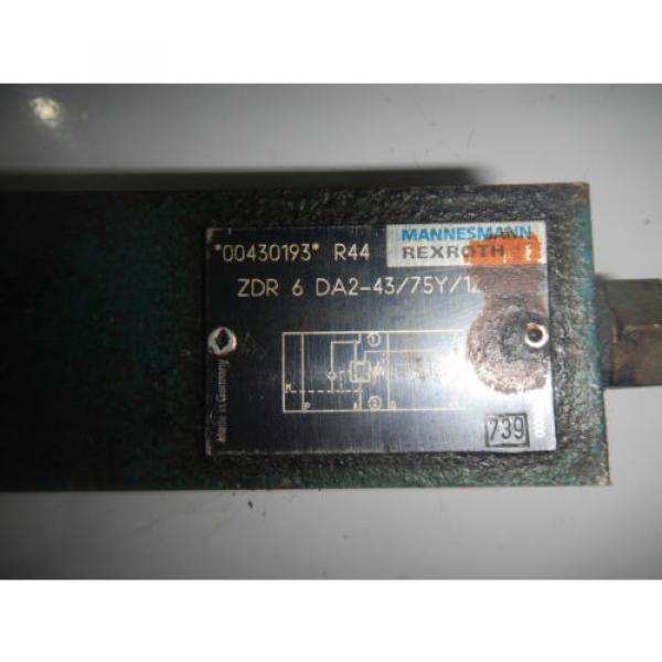 Rexroth ZDR6DA2-43/75Y/12 D03 Hydraulic Reducing Control Valve #2 image