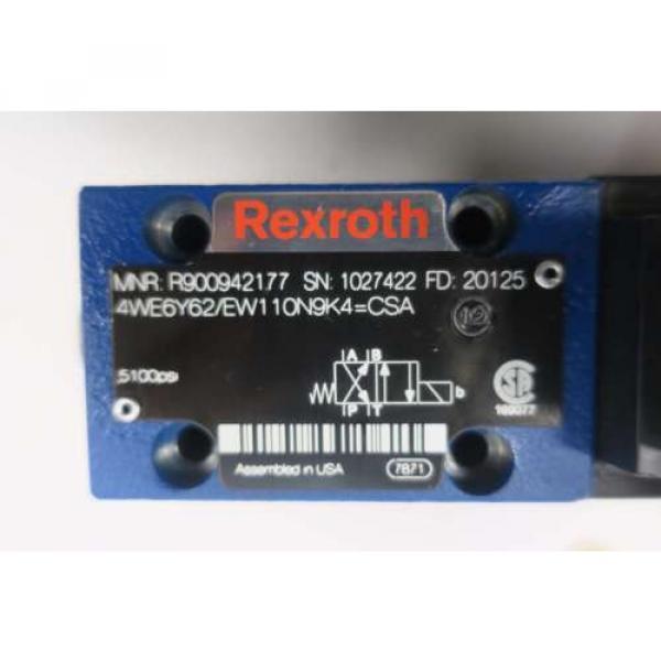 REXROTH 4WE6Y62/EW110N9K4 5100PSI 120V-AC SOLENOID HYDRAULIC VALVE D550094 #6 image