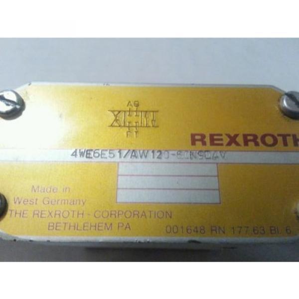 REXROTH VALVE 4WE6E51/AW120-60N9DAV TESTED 4WE6E51 AW120-60N9DAV #2 image