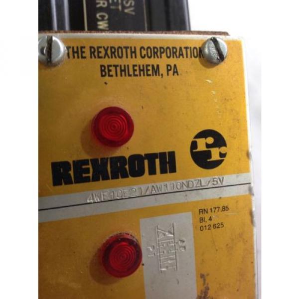 REXROTH  VALVE  4WE10E21/AW110NDZL/5V #2 image