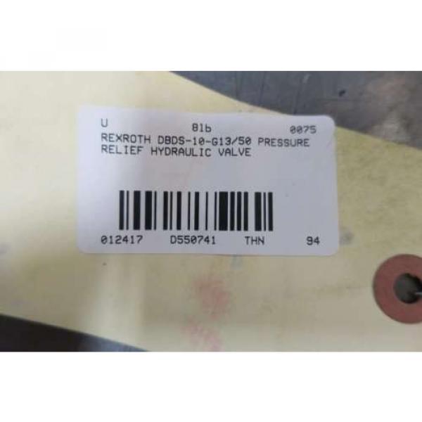 REXROTH DBDS-10-G13/50 PRESSURE RELIEF HYDRAULIC VALVE D550741 #6 image