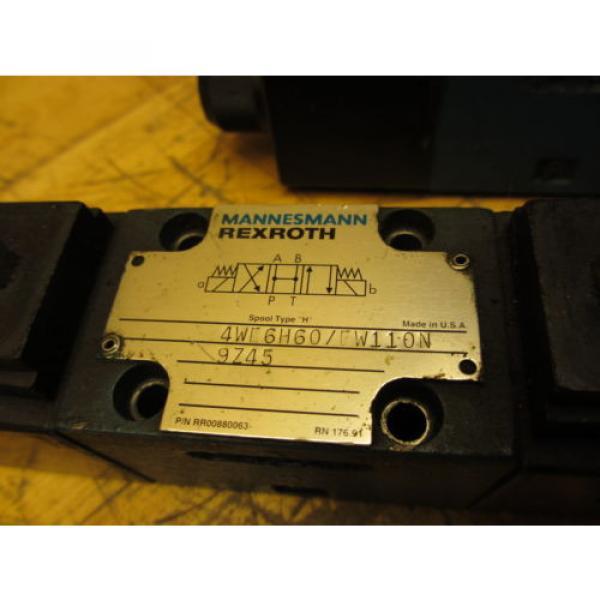 Mannesmann Rexroth 4WE6H60/EW110N9Z45 Hydraulic Directional Valve WZ45-4-L Coil #2 image