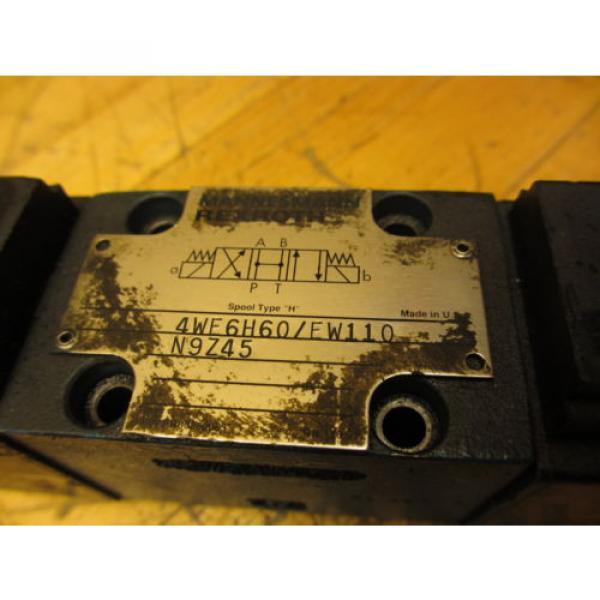 Mannesmann Rexroth 4WE6H60/EW110N9Z45 Hydraulic Directional Valve WZ45-4-L Coil #3 image