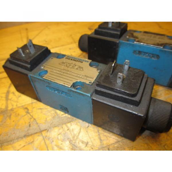 Mannesmann Rexroth 4WE6H60/EW110N9Z45 Hydraulic Directional Valve WZ45-4-L Coil #4 image