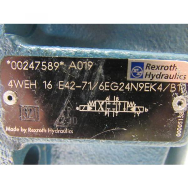 Rexroth 4WEH 16 E42-71/6EG24N9EK4/B10 Solenoid Operated Directional Spool Valve #9 image